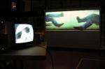 exercices de neutralité, installation vidéo de martin tétreault et manon labrecque, duo,corps,table tournante,mouvement rotatoire
