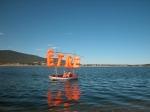 action contemplative, performance de manon labrecque,mer,bateau,être